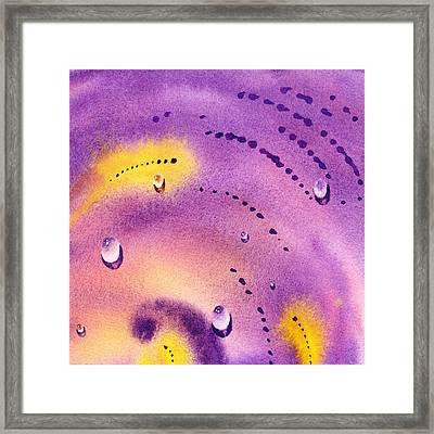 Water On Color Design Six Framed Print by Irina Sztukowski