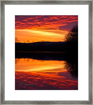Water On Fire Framed Print by Tom Cameron