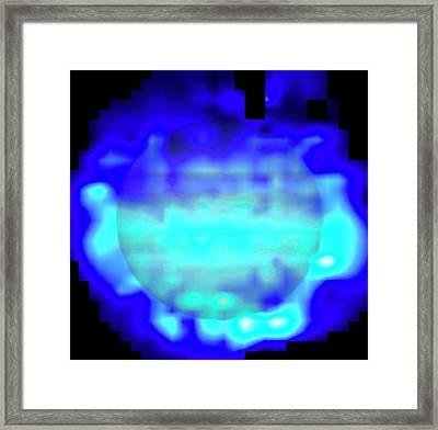 Water On Jupiter Framed Print by Nasa/reta Beebe (new Mexico State University)/herschel/t. Cavalie Et Al/european Space Agency