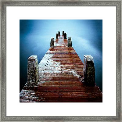 Water On The Jetty Framed Print by Dave Bowman