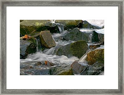 Water Over Rocks Framed Print by Sharon Talson