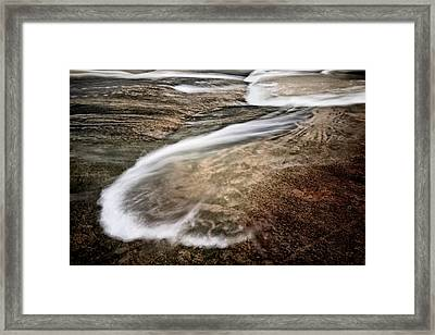 Water Over Stone 1 Framed Print by Patrick M Lynch