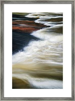 Water Over Stone 2 Framed Print by Patrick M Lynch