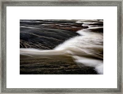 Water Over Stone 3 Framed Print by Patrick M Lynch