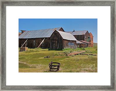 Water Pail - Bodie Framed Print by Amy Fearn