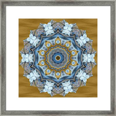 Water Patterns Kaleidoscope Framed Print