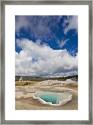 Old Faithful Geyser Basin Framed Print