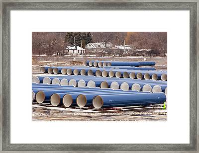 Water Pipe Construction Framed Print