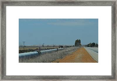 Water Pipeline Framed Print
