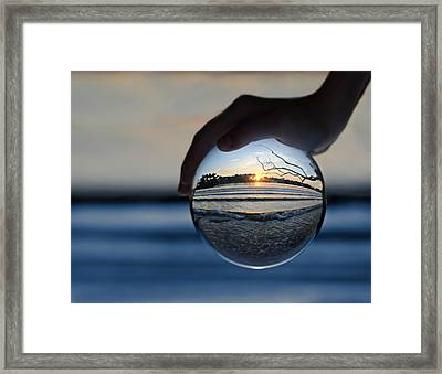 Water Planet Framed Print by Laura Fasulo