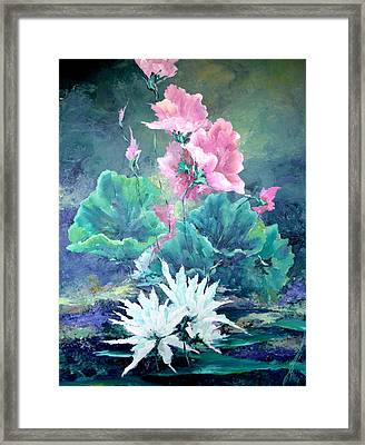 Water Plants Framed Print by Steven Nevada