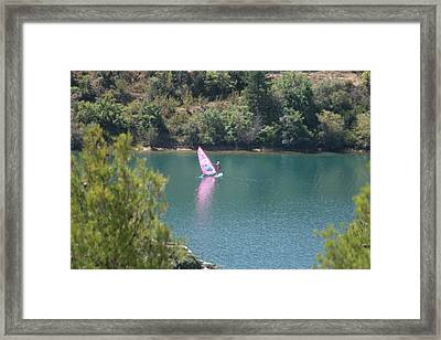 Pink Water Play Framed Print
