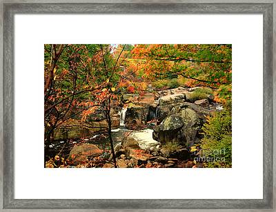 Water Plume Framed Print