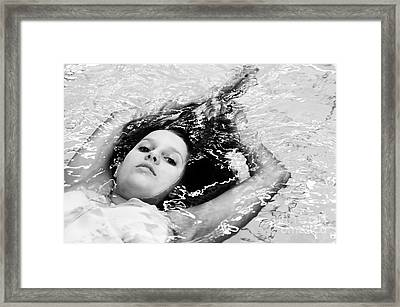 Water Portrait Framed Print