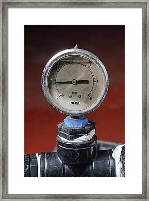 Water Pressure Gauge Framed Print by Photostock-israel