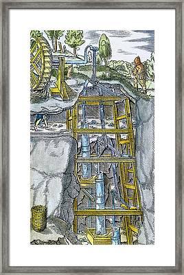 Water Pump & Wheel Framed Print by Granger