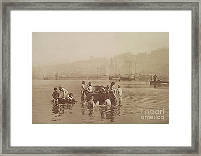 Water Rats Framed Print by Frank Meadow Sutcliffe