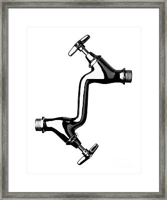 Water Recycling, Conceptual Artwork Framed Print by Richard Kail