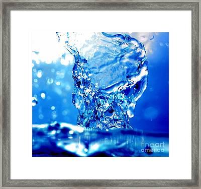 Water Refreshing Framed Print