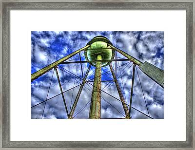 Mary Leila Cotton Mill Water Tower Art  Framed Print