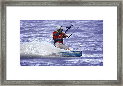 Water Rider Framed Print