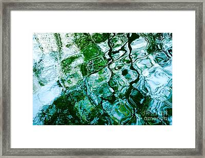 Water Ripples And Reflections Abstract Framed Print by Natalie Kinnear