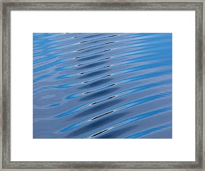 Water Ripples In The Hinlopen Strait Framed Print