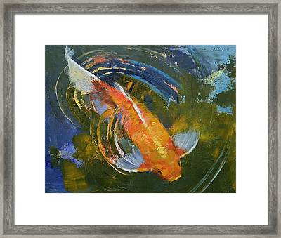 Water Ripples Framed Print by Michael Creese