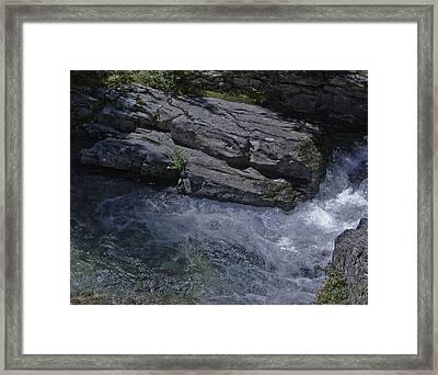 Water Rock Framed Print