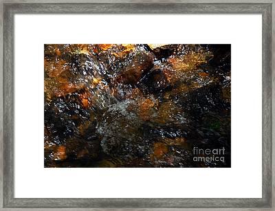 Water Rocks Framed Print