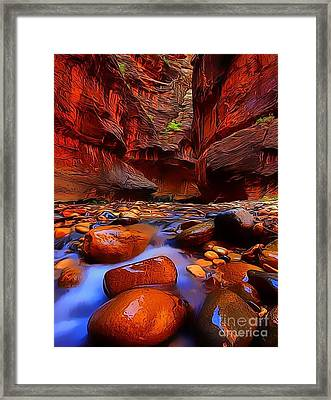 Water Runs Through It Framed Print