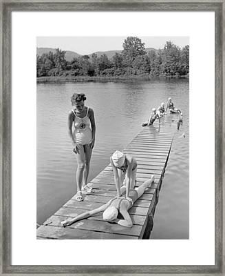Water Safety At Camp Perkins Framed Print