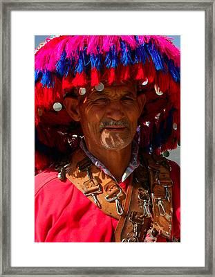 Water Seller Marrakesh Morocco Framed Print by Ralph A  Ledergerber-Photography