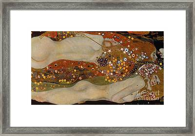Water Serpents II Framed Print by Gustav Klimt