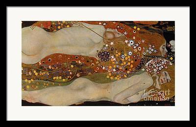 Power Girl Nude Paintings Framed Prints