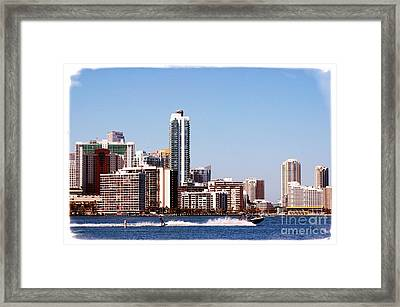Framed Print featuring the photograph Water Skiing by Carsten Reisinger