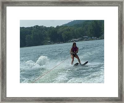 Water Skiing Is Fun Framed Print