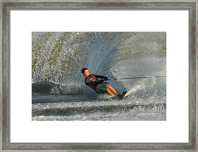 Water Skiing Magic Of Water 13 Framed Print by Bob Christopher
