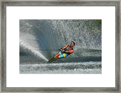 Water Skiing Magic Of Water 14 Framed Print by Bob Christopher