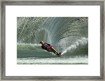 Water Skiing Magic Of Water 27 Framed Print by Bob Christopher