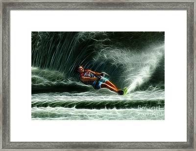 Water Skiing Magical Waters 1 Framed Print by Bob Christopher