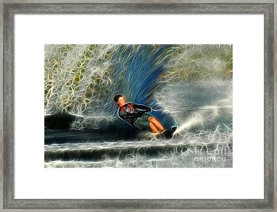 Water Skiing Magical Waters 3 Framed Print by Bob Christopher