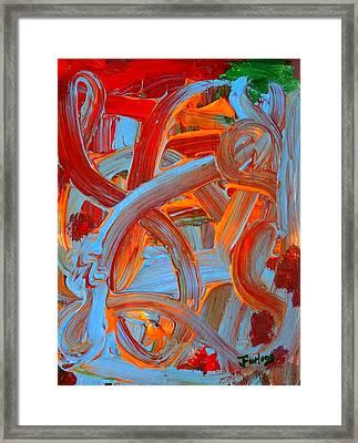 Water Slide Framed Print by Jim  Furlong