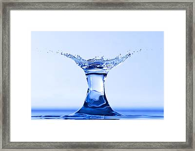 Water Splash Framed Print by Anthony Sacco