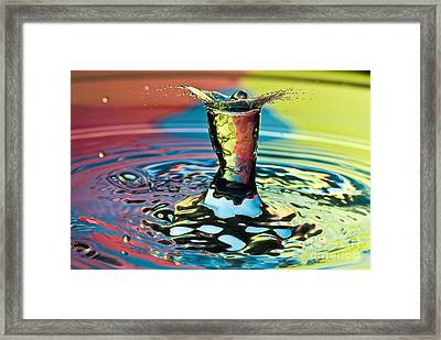 Water Splash Art Framed Print