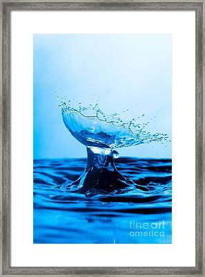Water Splash Collision Framed Print