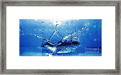 Water Splash Framed Print by Michal Bednarek