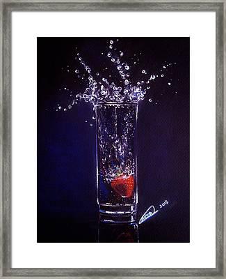 Water Splash Reflection Framed Print