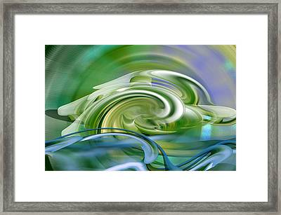 Water Sports - Abstract Art Framed Print