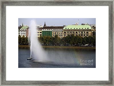 Water Spout Rainbow Framed Print